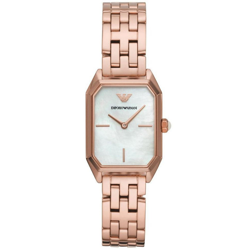 Ladies / Womens Gioia Rose Gold Stainless Steel Emporio Armani Designer Watch AR11147