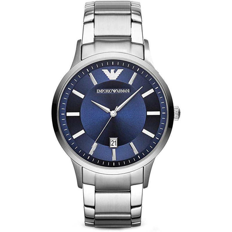 Mens / Gents Silver Stainless Steel Emporio Armani Designer Watch AR11180
