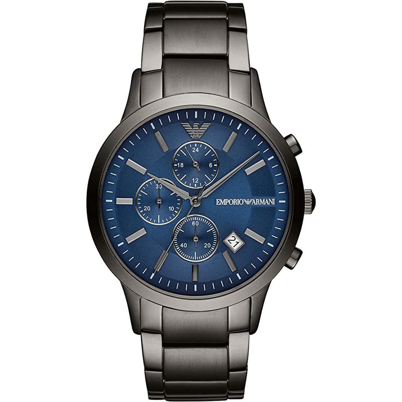 Mens / Gents Renato Grey Stainless Steel Chronograph Emporio Armani Designer Watch AR11215