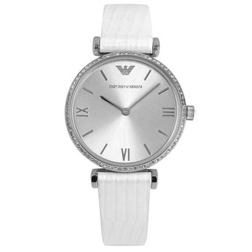 Ladies / Womens White Leather Emporio Armani Designer Watch AR1680