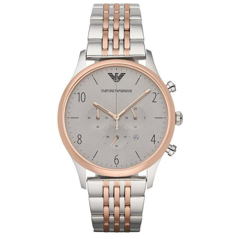 Mens / Gents Two Tone Stainless Steel Chronograph Emporio Armani Designer Watch AR1864
