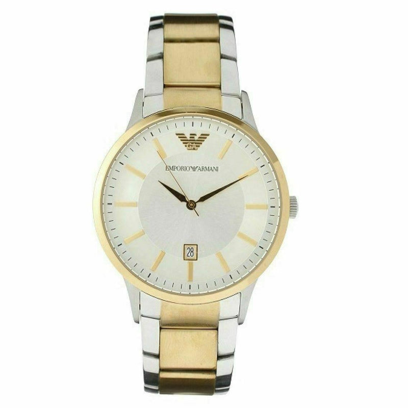 Mens / Gents Two Tone Stainless Steel Emporio Armani Designer Watch AR2449