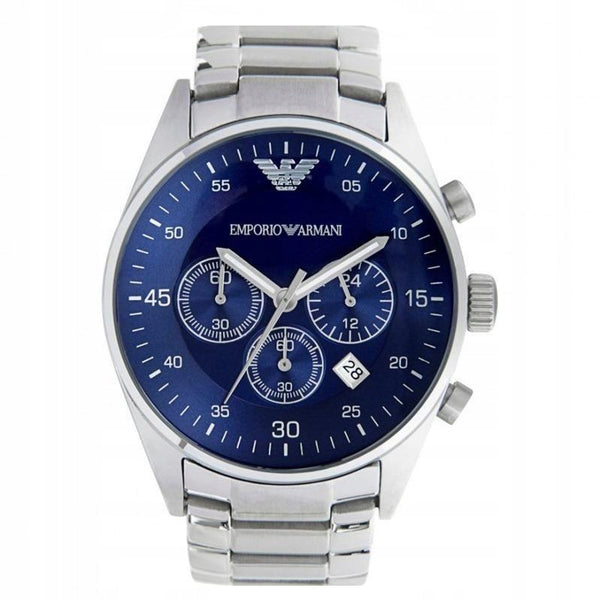 Mens / Gents Silver Stainless Steel Emporio Armani Designer Watch AR5860