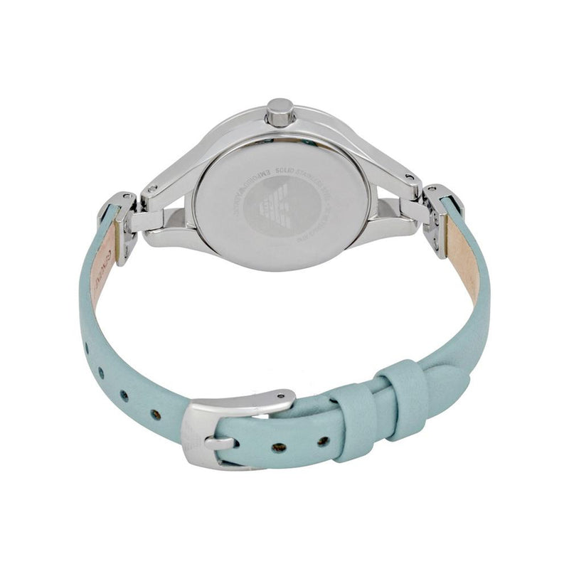 Ladies / Womens Sea Blue Mother of Pearl Bracelet Emporio Armani Designer Watch AR7414