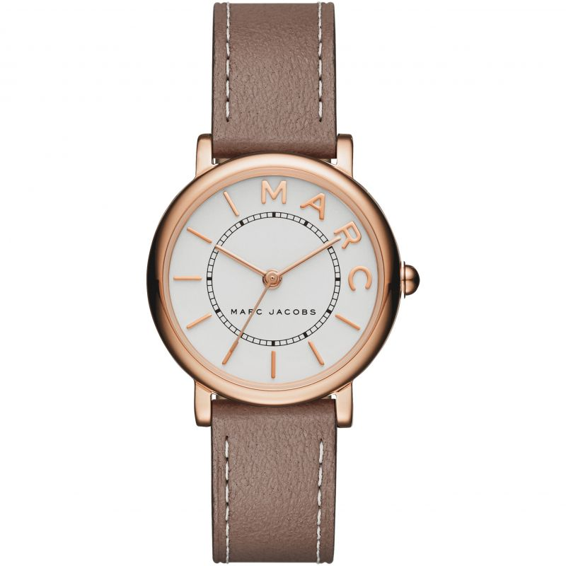 Ladies / Womens Roxy Mini Brown Leather Marc Jacobs Designer Watch MJ1538