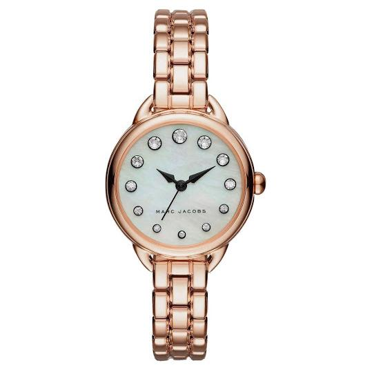 Ladies / Womens Betty Rose Gold Mother of Pearl Stainless Steel Marc Jacobs Designer Watch MJ3511