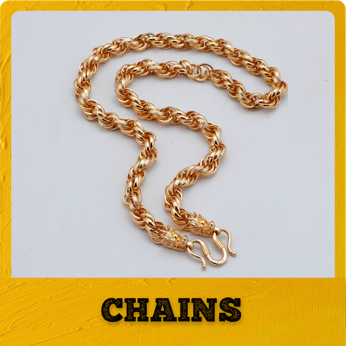 gold plated chains for men