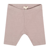 Lil leggs leggings shorts ribbed - taupe