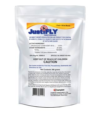 Durvet - Justifly - Feed Through - 360 GM