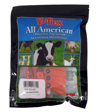 Y-Tex - Sheep Star Set Orange Tag
