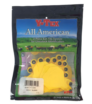 Y-Tex - Tag & Button 3 Star Blank Yellow