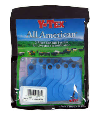 Y-Tex - Tag & Button 3 Star (1-25) Blue