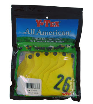 Y-Tex - Tag & Button 4 Star (26-50) Yellow