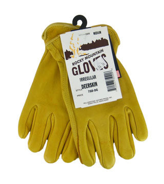 Yellowstone - Irregular Deerskin Gloves - Size Medium