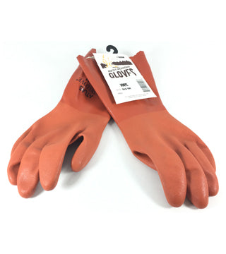 Yellowstone - Orange Vinyl Gauntlet Glove - Size Medium