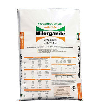 Milorganite - Professional Grade Turf Grass Fertilizer 6-4-0 2.5% Fe- 50 lb (90 SGN)