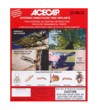 "Acecap - Systemic Tree Insecticide Implants - 3/8"" - 25/pack"