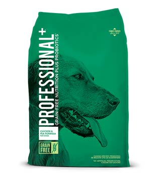 Professional + Grain-Free - Chicken & Pea Dog Food- 28 lb.