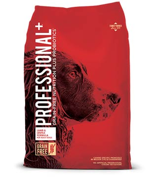 Professional + Grain-Free - Lamb & Lentil Dog Food- 28 lb.