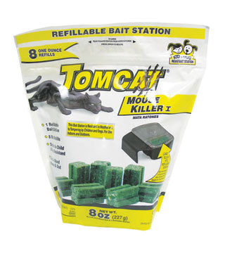 Tomcat - Mouse Killer Refillable Bait Station - 8 oz.