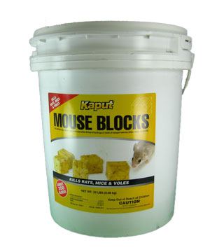 Kaput - Rat, Mouse, Vole Bait - Blocks - Pail - 22 lb
