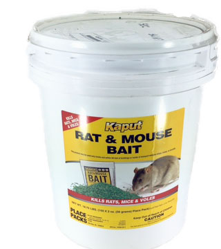 Kaput - Rat & Mouse Bait - 150 Pack Pail