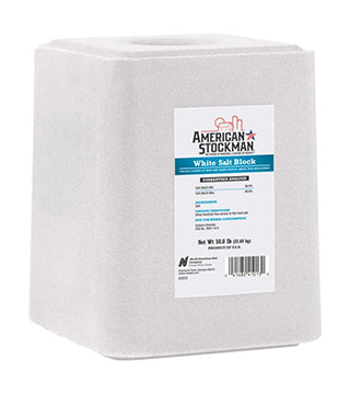 American Stockman - White Salt Block - 50 lb