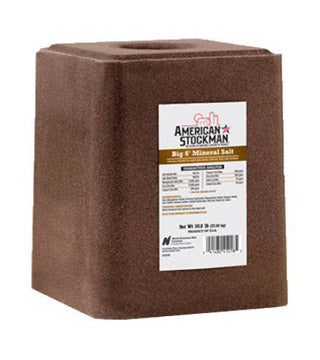"American Stockman - "" BIG 6"" Trace Mineral Salt Block - 50 lb"