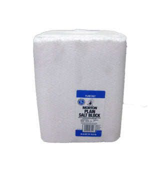 Morton - Plain White Salt Block - 50 lb