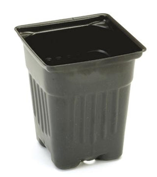 "Summit Plastic - 4"" Black Square Quart Pot - 500/Case"