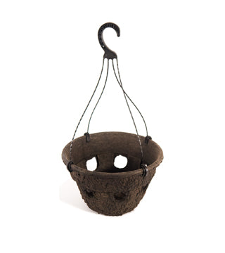 "Western Pulp - 12"" Cascade Hanging Basket 2.34 Gallon - 22/Case (#106612)"
