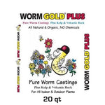 Worm Gold Plus - Pure Castings w/ Kelp and Pumice - 20 qt.