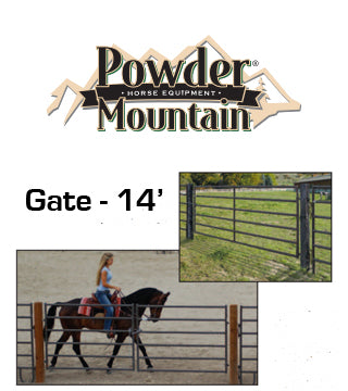 "Powder Mountain - Gate - 14' x 52"" - Brown"