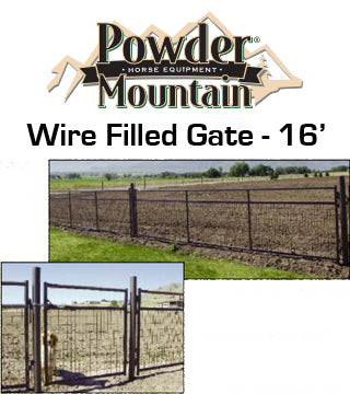 Powder Mountain - Gate - Wire Filled - 16' - Brown