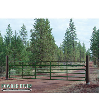 Powder River - Gate - Classic HD - 8' - Chain Latch - Green