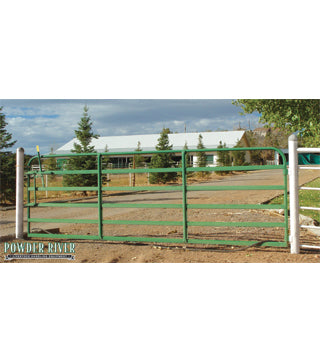 Powder River - Gate - 1600 Tube - 14' - Flat Hinge - Green