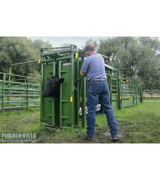 Powder River - Squeeze Chute - S2000 - Auto - Green