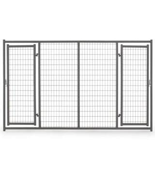 Tarter - HD Dog Kennel Front w/ 2 Doors - 6' H x 10' L