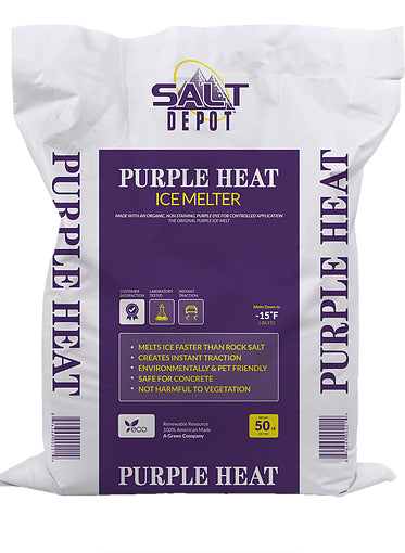 Salt Depot - Purple Heat Ice Melter - 50 lb. (49/pallet)
