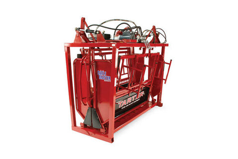 Tarter - Squeeze Chute - Cattlemaster Series 12 - Hydraulic - Red