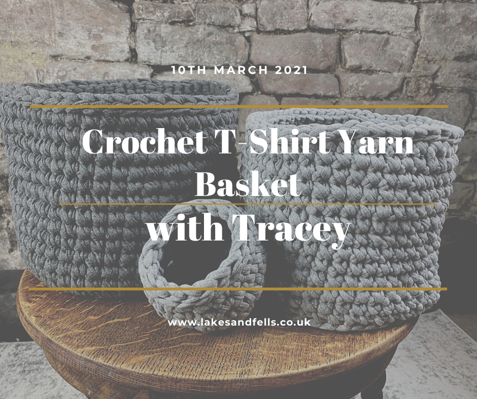 Crochet T-shirt Yarn Basket with Tracey, 10th March 2021