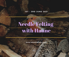 Load image into Gallery viewer, Needle Felting Midweek Retreat (incl Wool Shop Visit) with Hanne, 1st - 3rd June 2021