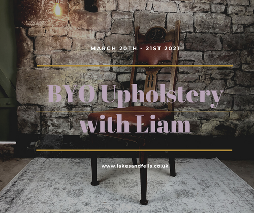 Bring your own Upholstery project weekend with Liam (20th - 21st March 2021)