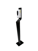 Load image into Gallery viewer, Auto Hand Sanitiser Dispenser Stand SL-V1 Auto Free Standing Station Black - £120 ex VAT