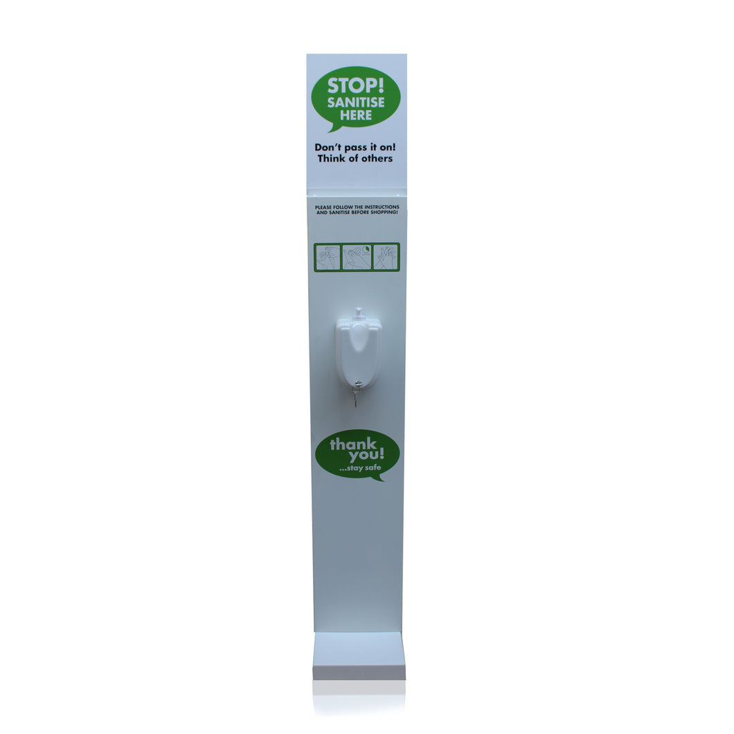 Hand Sanitiser Station Pump Operated Sanitizer Dispenser Stand V2