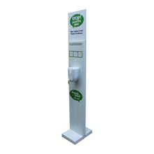 Load image into Gallery viewer, Hand Sanitiser Station Pump Operated Sanitizer Dispenser Stand V2