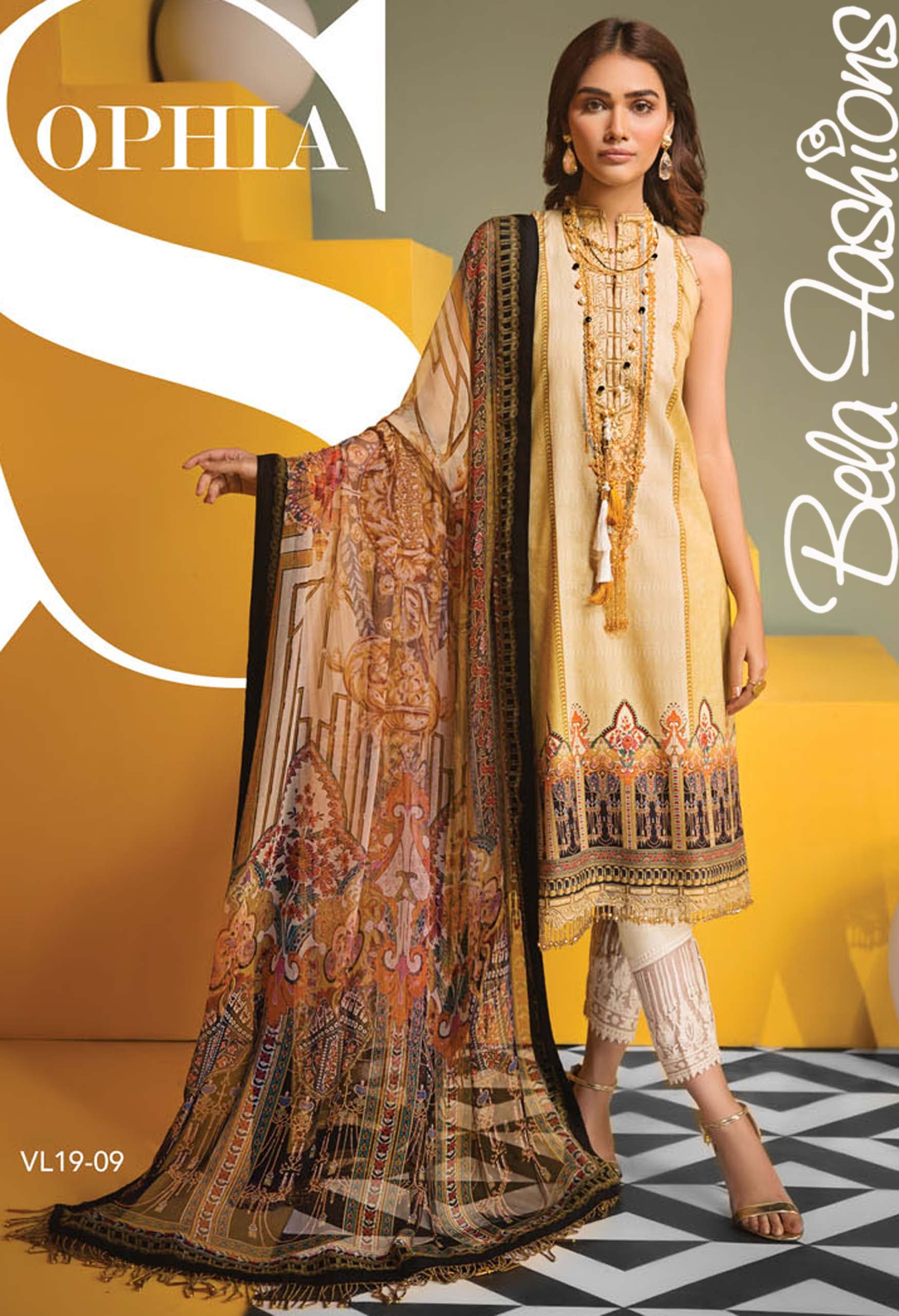 94a301fc91 Viva Anaya By Kiran Chaudhary VL 19 - 09. Sold Out - £35.99 £55.00. Embroidered  lawn 3 pcs suits ...