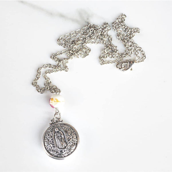 Double Sided Our Lady of Guadalupe Layering Necklace -