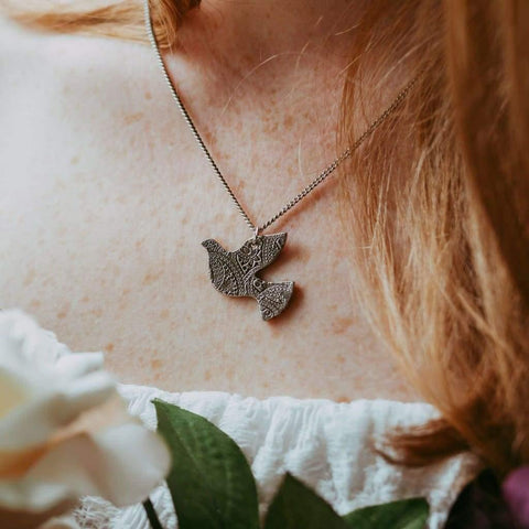 Reversible Dove Necklace - Necklace