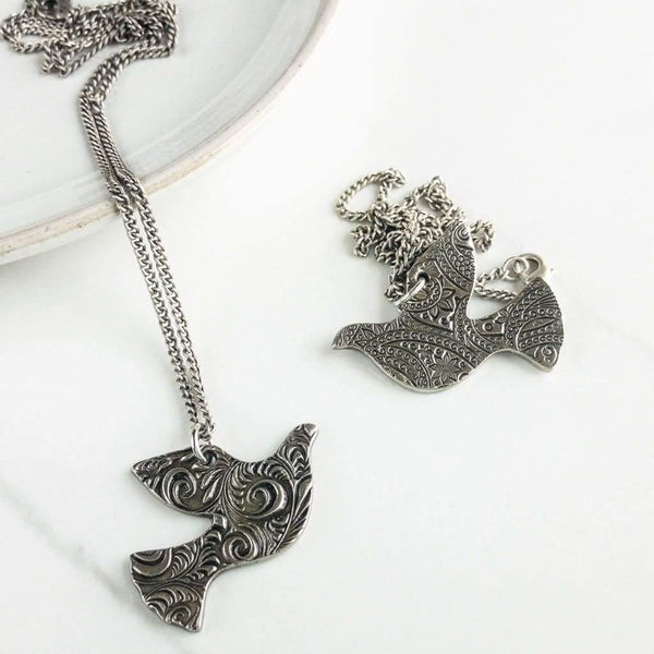 Reversible Dove Necklace